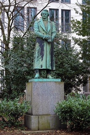 dramatist: Monument to the German dramatist and novelist Karl Leberecht Immermann in Dusseldorf Stock Photo