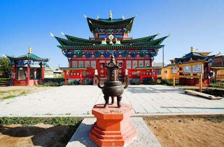 ulan ude: Temple of the Pure Land in the Ivolginsky Datsan  buddhist monastery , Buryatia, Russia