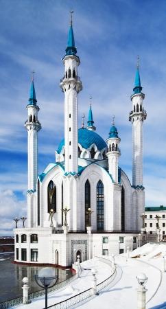 kazan: Qolsharif Mosque in Kazan Kremlin, Tatarstan, Russia Stock Photo