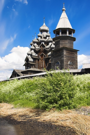 Transfiguration Church on Kizhi island, Karelia, Russia photo