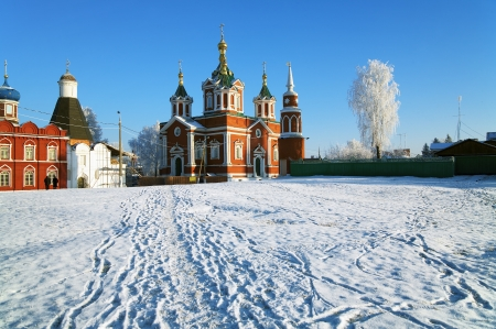 exaltation: Cathedral of the Exaltation of the Holy Cross in Brusensky Assumption Monastery in Kolomna, Russia