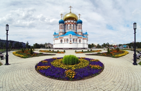 assumption: Uspensky  Assumption  Cathedral on the Cathedral Square in Omsk, Russia