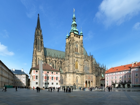 St  Vitus Cathedral in Prague, Czech Republic photo