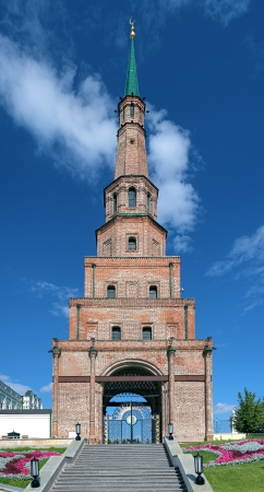 The Soyembika Tower of the Kazan Kremlin, Tatarstan, Russia photo