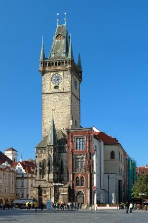 Oude Stadhuis van de Stad in Praag, bekijken van het Oude Stadsplein, Tsjechië Stockfoto - 15977556