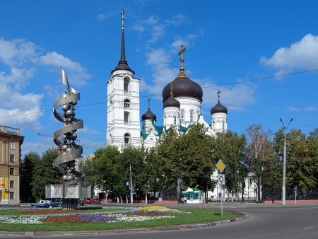 Annunciation Cathedral and Monument to the Soviet Science in Voronezh, Russia photo