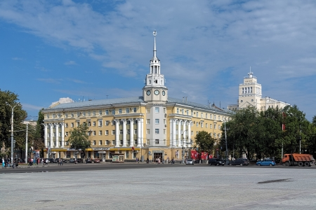 council: Voronezh, Building of Regional Council of Trade Unions on the Lenin Square, Russia