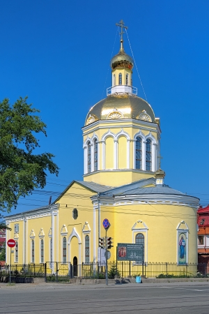 exaltation: Church of the Holy Cross Exaltation in Yekaterinburg, Russia Stock Photo