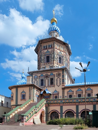 Saints Peter and Paul Cathedral in Naryshkin Baroque style, Kazan, Republic of Tatarstan, Russia Stock Photo - 16814498