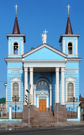 exaltation: Exaltation of the Holy Cross Roman Catholic Church in Kazan, Republic of Tatarstan, Russia Stock Photo
