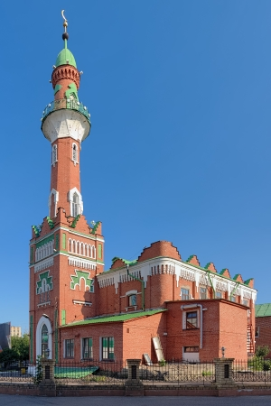 thousandth: The Thousandth Anniversary of Islam Mosque in Kazan, Republic of Tatarstan, Russia Stock Photo