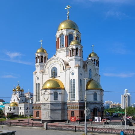 Church on Blood in Honour of All Saints Resplendent in the Russian Land and Patriarchal Metochion in Yekaterinburg, Russia Stock Photo - 16944343