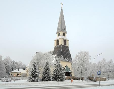 Rovaniemi Church in winter, Finnish Lapland, Finland Stock Photo - 17410956