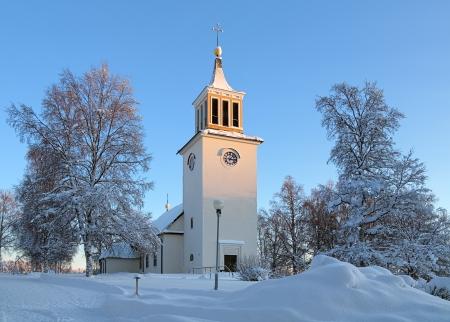 Dorotea Church in winter, Vasterbotten Province, Sweden Stock Photo - 17559571