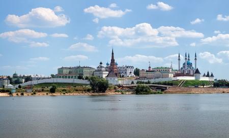 View of the Kazan Kremlin from the Kazanka River, Republic of Tatarstan, Russia