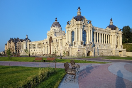 Palace of Farmers in Kazan - Building of the Ministry of agriculture and food, Republic of Tatarstan, Russia Stock Photo - 18109455