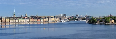 norrmalm: Panorama of Gamla Stan, Norrmalm, Ostermalm and Skeppsholmen in Stockholm, Sweden Stock Photo