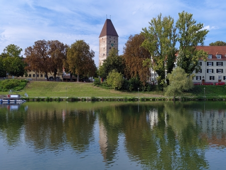 Gaensturm Tower and Danube River in Ulm, Germany photo