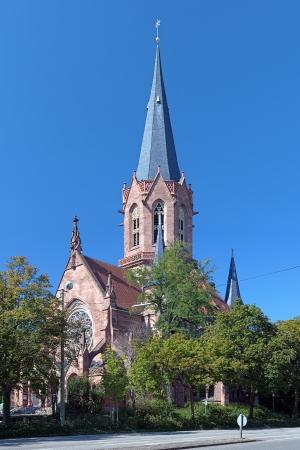 karlsruhe: The Christ Church in Karlsruhe, Germany