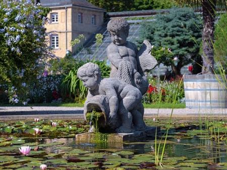 karlsruhe: Sculpture in Botanischer Garten Karlsruhe, Germany