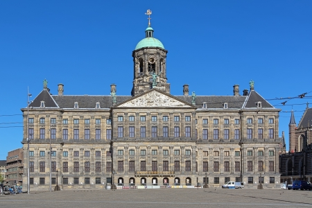 Royal Palace at the Dam Square of Amsterdam, Netherlands