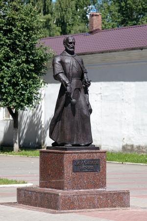 Monument van Lew Sapieha, de Grote Litouwse Hetman in 1625-1633, in Lepel, Wit-Rusland