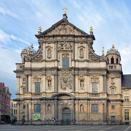 st charles: Church of St Charles Borromeo in Antwerp, Belgium