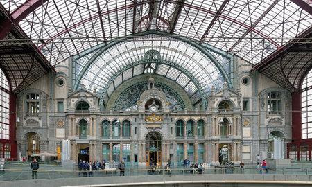 Internal facade of the Antwerp Central train station, Belgium Stock Photo - 23851721
