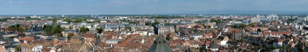 Big panorama of Strasbourg from the top of Strasbourg Cathedral, France photo