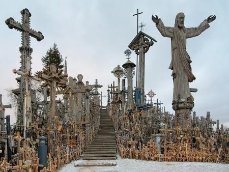 Hill of Crosses near Siauliai, Lithuania