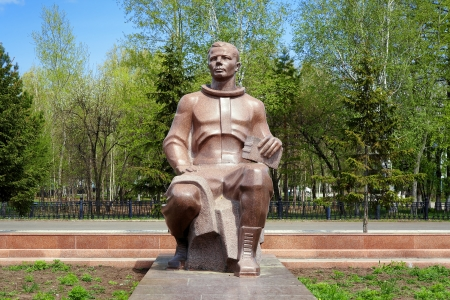 yuri: Monument to the first cosmonaut Yuri Gagarin in Komsomolsk-on-Amur, Far East, Russia