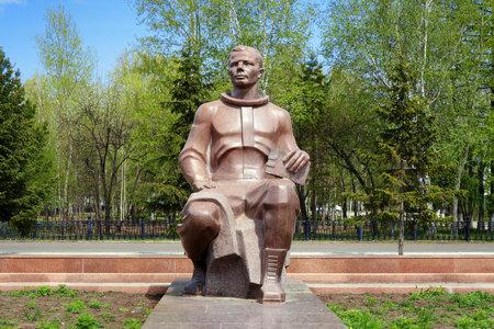 gagarin: Monument to the first cosmonaut Yuri Gagarin in Komsomolsk-on-Amur, Far East, Russia