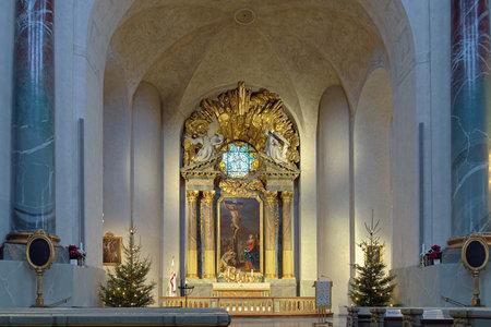 Altar of Hedvig Eleonora Church in Stockholm, Sweden
