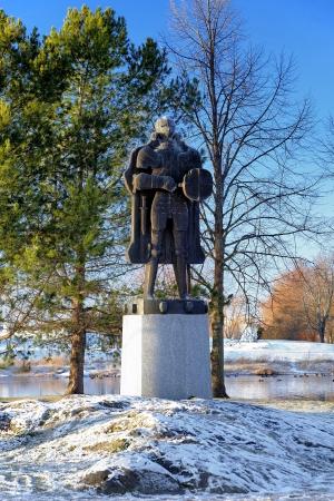 founder: Spirit of Castle - Monument of danish knight Erik Axelsson Tott, founder of the Olavinlinna Castle, Savonlinna, Finland