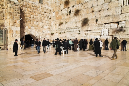 Western Wall in Jerusalem, Israel Editorial