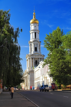 kharkov: The bell tower of the Assumption Cathedral in Kharkiv, Ukraine