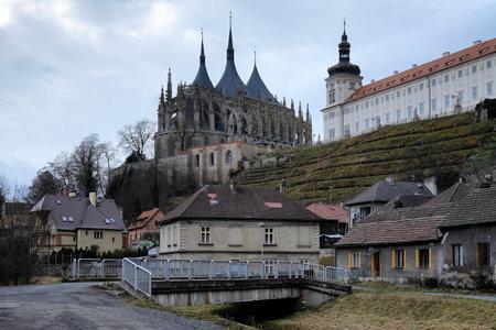 jesuit: Church of St Barbara and Jesuit College in Kutna Hora, Czech Republic Editorial