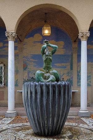 carl: Little Triton Fountain by Carl Milles in Millesgarden sculpture garden in Stockholm, Sweden