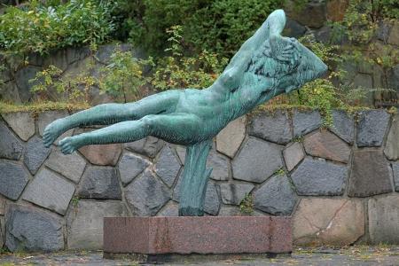 carl: Hovering Woman sculpture by Carl Milles in Millesgarden sculpture garden in Stockholm, Sweden