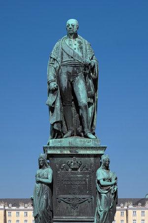 karl: Monument of Karl Friedrich von Baden in Karlsruhe, Germany Editorial