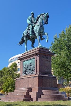 karlsruhe: Equestrian statue of kaiser Wilhelm I in Karlsruhe, Germany