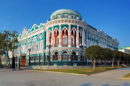 neo gothic: Sevastyanov House - Historical building in neo-gothic style in Ekaterinburg, Russia