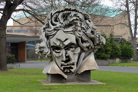 beethoven: Beethon - a bust of Ludwig van Beethoven by german sculptor Klaus Kammerichs, based on the best-known portrait of Beethoven, painted in 1819 by Karl Josef Stieler, Bonn, Germany