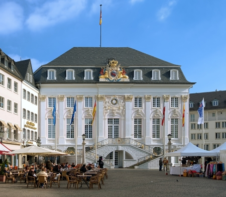 Old Town Hall on the market square in Bonn, Germany