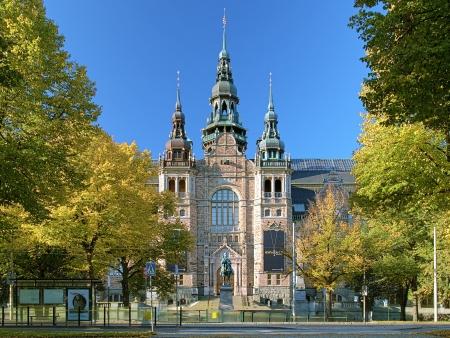 Gevel van het Nordic Museum Building in de herfst zonnige dag, Stockholm, Zweden Stockfoto - 24899680