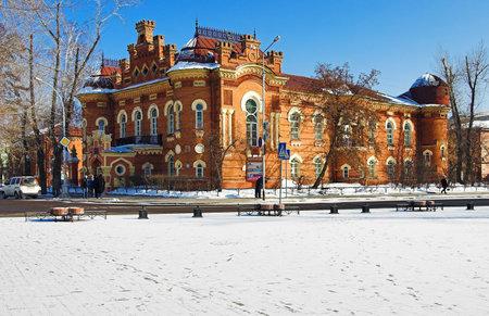 local landmark: The building of the Irkutsk Regional Museum, Russia