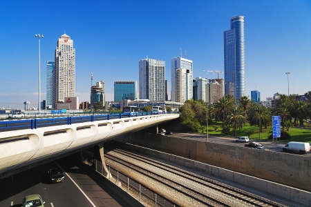 ramat aviv: Skyscrapers of the Diamond Exchange District in Ramat Gan, Israel Editorial