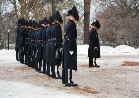 Norwegian Royal Guards near the Royal Palace in Oslo