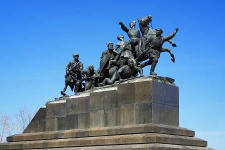 Samara, Monument of Vasily Chapaev, the outstanding figure of Revolution and Civil War in Russia