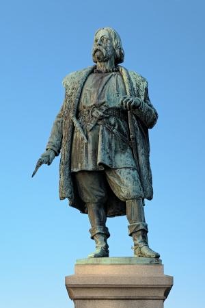 rebellion: Monument to Engelbrekt Engelbrektsson, leader of the swedish rebellion in 1434-1436, Orebro, Sweden Stock Photo